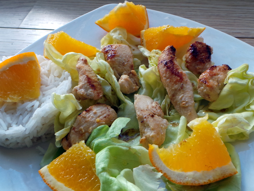 salade de dinde à l'orange